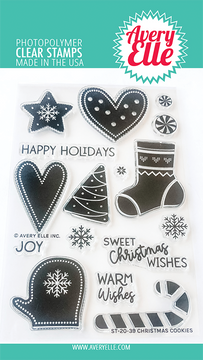 Avery Elle Christmas Cookies Clear Stamps