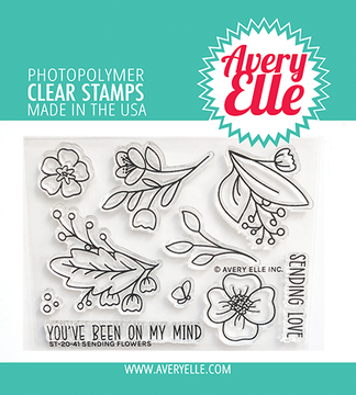 Avery Elle Sending Flowers Clear Stamps