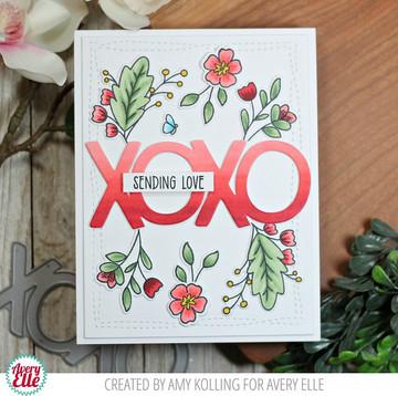Sending Flowers Clear Stamps & Dies