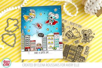 Superheroes Clear Stamps & Dies