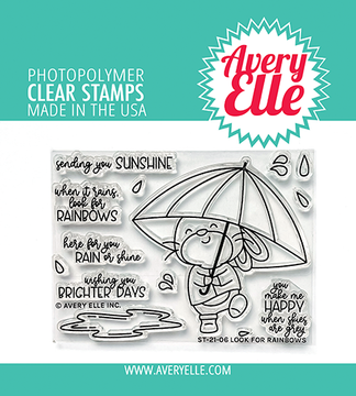 Avery Elle Look For Rainbows Clear Stamps