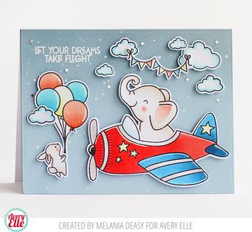 Peek-A-Boo Flight Clear Stamps & Dies