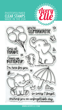 Avery Elle Elephantastic Clear Stamps
