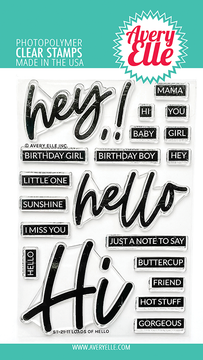 Avery Elle Loads Of Hello Clear Stamps & Dies