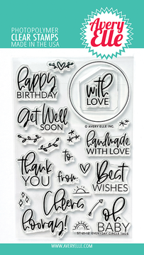 Avery Elle Everyday Circle Tags Clear Stamps