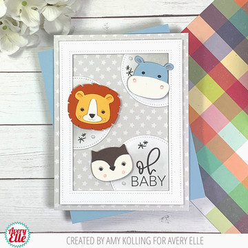 Everyday Circle Tags Clear Stamps & Peek-A-Boo Birthday Tag Toppers Dies