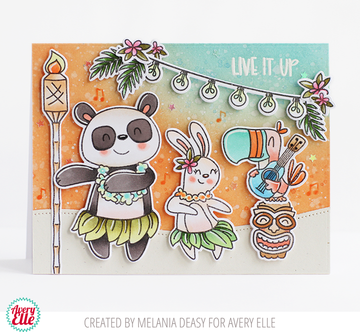 Luau Party Clear Stamps & Dies