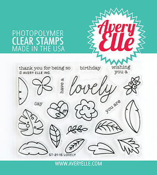 Avery Elle Lovely Clear Stamps