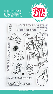 Avery Elle Sweet Day Clear Stamps