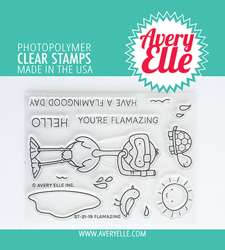 Avery Elle Flamazing Clear Stamps