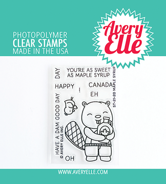 Avery Elle Maple Syrup Clear Stamps