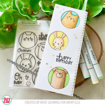 Critter Circle Tags Clear Stamps