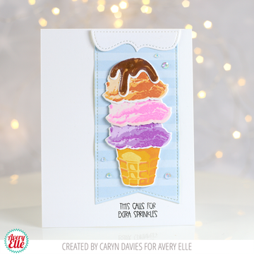 Layered Ice Cream Clear Stamps & Dies