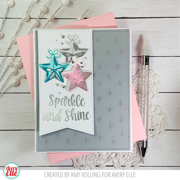 Layered Stars Clear Stamps & Dies