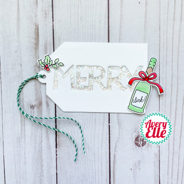 Prosecco-Ho-Ho Clear Stamps & Dies