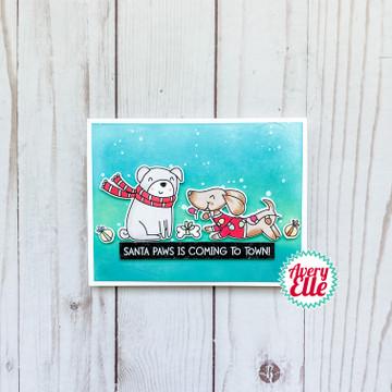 Santa Paws Clear Stamps & Dies