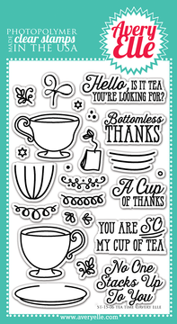Clear Stamps - Tea Time by Avery Elle Inc.