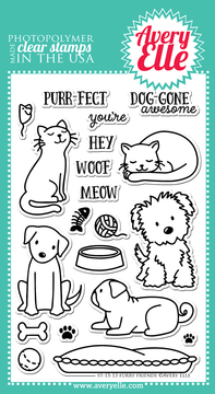 Clear Stamps - Furry Friends by Avery Elle Inc.