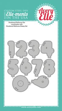 Custom Steel Dies - Numbered Balloons by Avery Elle Inc.