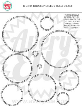 Avery Elle Double Pierced Circles craft dies