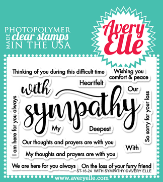 Avery Elle With Sympathy Clear Stamps