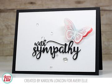 With Sympathy Clear Stamps & Dies