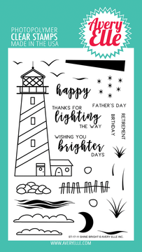 Avery Elle Shine Bright Clear Stamps