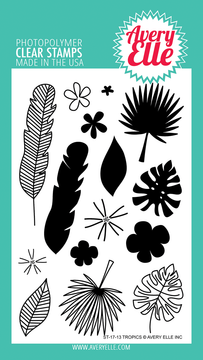 Avery Elle Tropics Clear Stamps