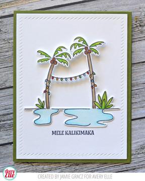 Flamingo Bells Clear Stamps & Dies