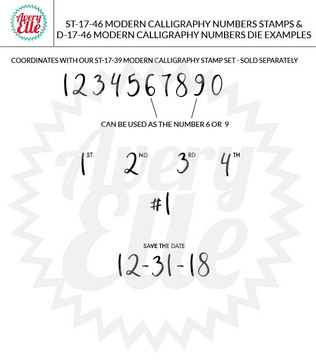 Modern Calligraphy Numbers Example