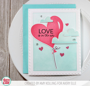 Love Is In The Air Clear Stamps & Dies
