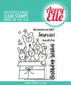 Avery Elle Critter Crew Clear Stamps