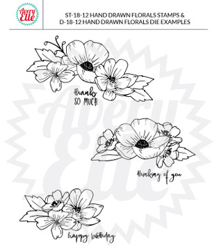 Hand Drawn Florals Dies Example