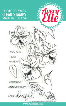 Avery Elle Hummingbird Clear Stamps