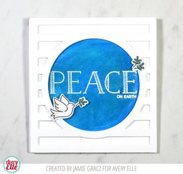 Sending Peace Clear Stamps & Dies