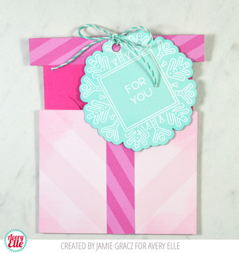 Gift Box Card Holder Dies