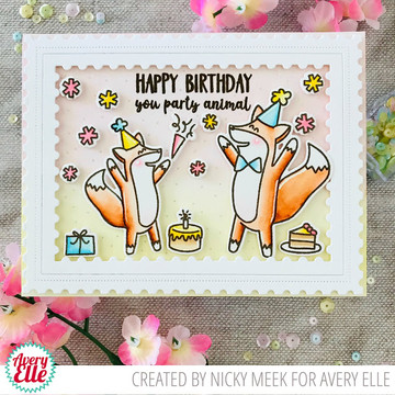Party Fox Clear Stamps & Dies