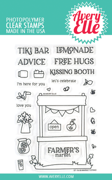 Avery Elle Market Stand Clear Stamps