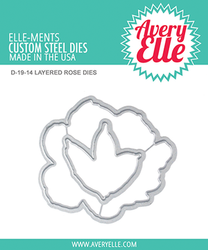 Avery Elle Layered Rose Dies