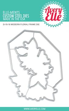 Avery Elle Modern Floral Frame Dies