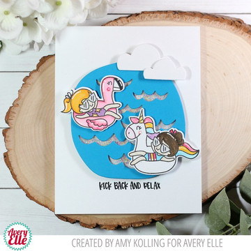 Pool Party Clear Stamps & Dies