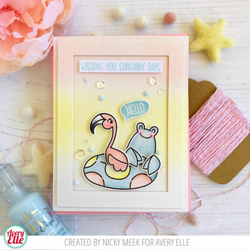 Peek-A-Boo Summer Pals Clear Stamps & Dies