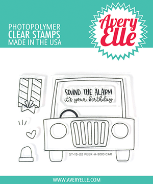 Avery Elle Peek-A-Boo Car Clear Stamps