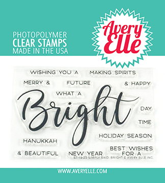 Avery Elle Simply Said: Bright Clear Stamps