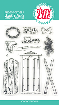 Avery Elle Alpine Christmas Clear Stamps