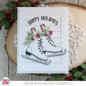 Holiday Skates Clear Stamps & Dies