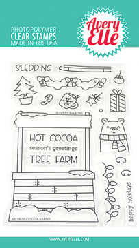 Avery Elle Cocoa Stand Clear Stamps