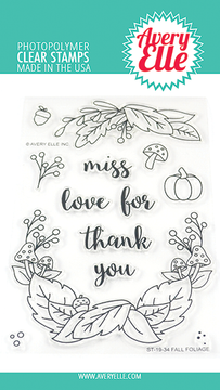Avery Elle Fall Foliage Clear Stamps