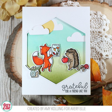 Falling For You Clear Stamps & Dies