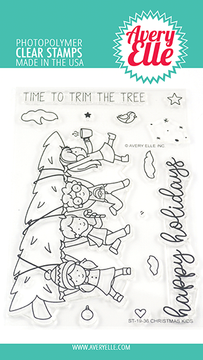 Avery Elle Christmas Kids Clear Stamps
